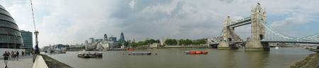 Panoramic view of the Thames