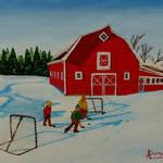 """Barnyard Hockey"" by anthonydunphy"