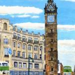 """Glasgow Tolbooth Steeple"" by Longlinestudio"