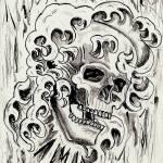 """""""Skull in Smoke"""" by jenns"""