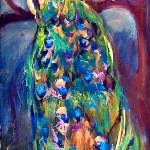"""Peacock In Tree Original Painting by Ginette"" by GinetteCallaway"