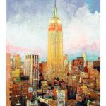 """Travel America Manhattan Dawn"" by BeaconArtWorksCorporation"