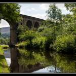 """Uppermill Viaduct over Huddersfield Narrow Canal"" by Jeni_Harney"
