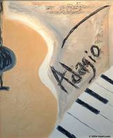 Adagio Abstract Guitar and Piano Art