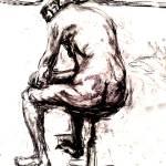 """1m man back  stool"" by Mark_Campo"