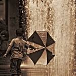 """Behind his Umbrella"" by saharsh"