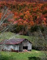 Rustic Barn on a Tennessee Hillside