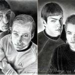 """Kirk & Spock Then & Now"" by McHenryDesigns"