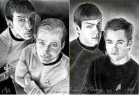 Kirk & Spock Then & Now
