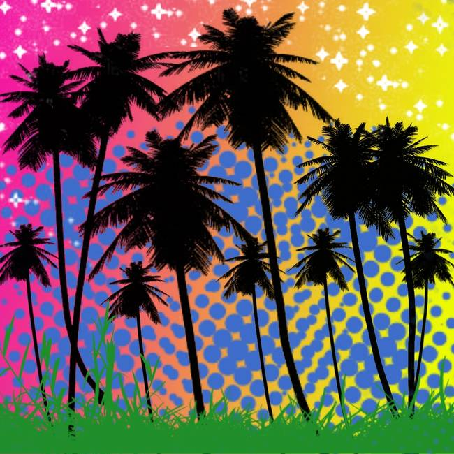 Background Trees Photoshop Colorful Palm Tree Background
