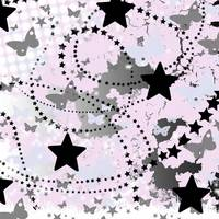 grunge background butterflies and stars