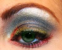 Super Macro Colorful Eyeshadow by mac and ben nye