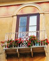 Italian Balcony overflowing with flowers