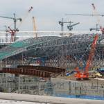 """""""Stadium with Aquatic centre in foreground"""" by chrisww59"""