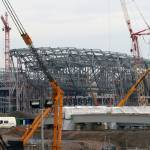 """Aquatic Centre roof taking shape"" by chrisww59"