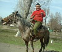Journey from Almaty to Charyn.Kazakh Horseman