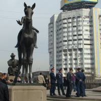 Independence Monument Almaty Art Prints & Posters by chris wiles