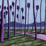 """Purple Palms"" by annewest"