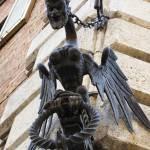 """Medieval winged devilsh creature - Siena, Italy"" by arttraveler"