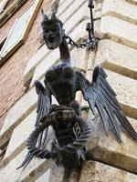 Medieval winged devilsh creature - Siena, Italy