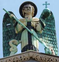 Angel San Michele on  Romanesque Church, Lucca