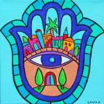 """""""Jerusalem Hamsa"""" by laurabolter"""