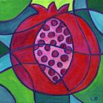 """Pomegranate Mosaic"" by laurabolter"