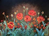 Moonlit Poppies