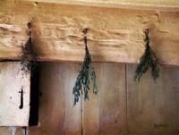Crossbeam with Herbs Drying
