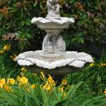 """garden fountain"" by lwoodburn"