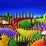 """Colorful Tuscan Landscape"" by reniebritenbucher"