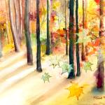 """Dream of Trees Watercolor/Digital"" by misook"