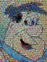 Fred Flintstone Amazing Montage Mosaic MUST SEE