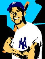 Mickey Mantle AT BAT Shadow Color