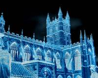 Kings College in Blue