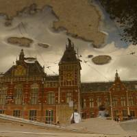 Reflections of Amsterdam - Central Station Art Prints & Posters by AmsterS@m Thewickedreflectah