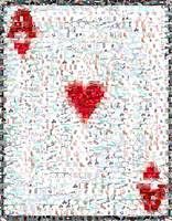 Ace of Hearts...Amazing Montage Mosaic illusion po