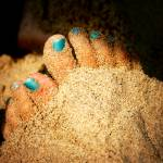 """Blue Sandy Feet"" by wendyaperry"