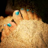 Blue Sandy Feet