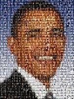 Barack Obama...Amazing Montage Mosaic illusion pop