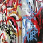 """Graffitied Fence"" by JessicaKrauseSmith"