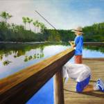 """Boys Fishing on Pond Creek"" by swshiffer"