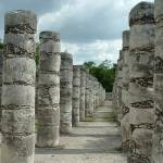 """Chichen Itza Columns"" by le_shelton"