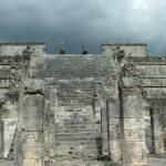 """Chichen Itza Temple Front"" by le_shelton"
