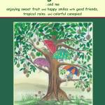 """Mango Tree phrase;Manzanita, Marta, Joe, and Pinky"" by SusieQArt"