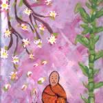 """Buddhist Monk under the Cherry Blossom Tree"" by CraftHippie"