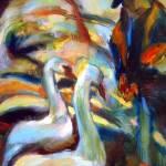 """Feeding Geese"" by dornberg"