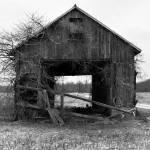 """Landscape Barn Front Princeton BW"" by zbtwells"