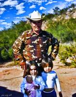 Rancher with Children
