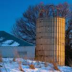 """Old Barn Silo at Sunset"" by CEMiller"